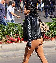 Hot latina in tight leggins