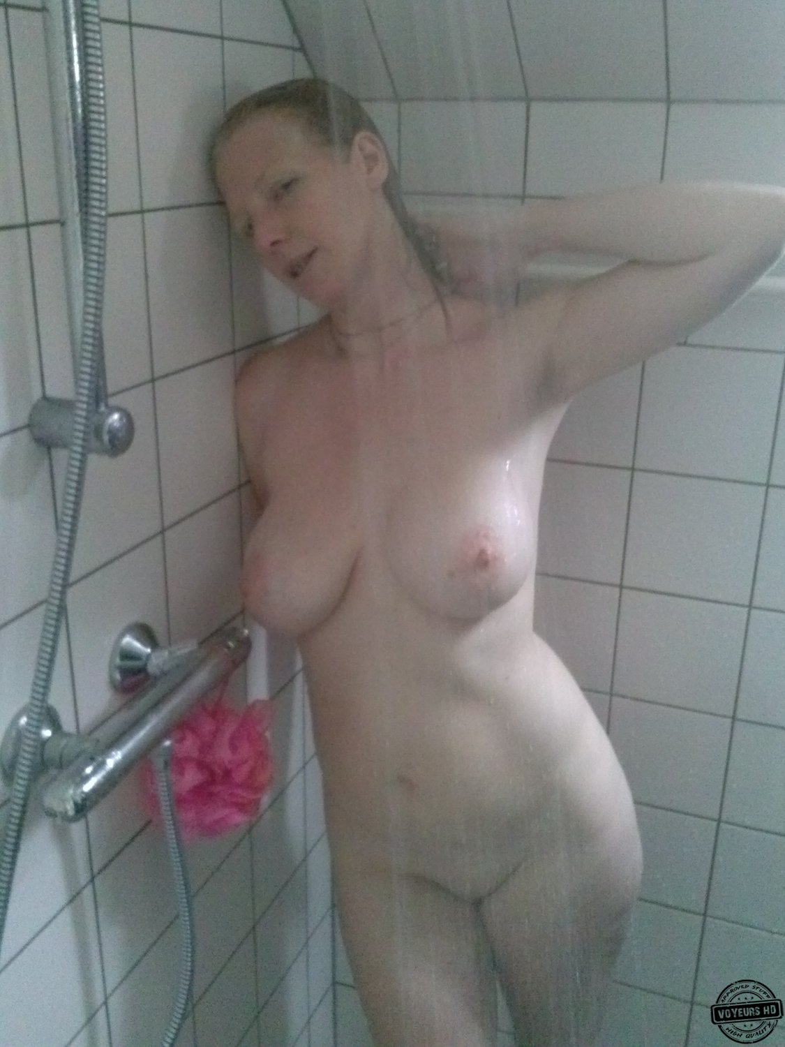 caught in shower