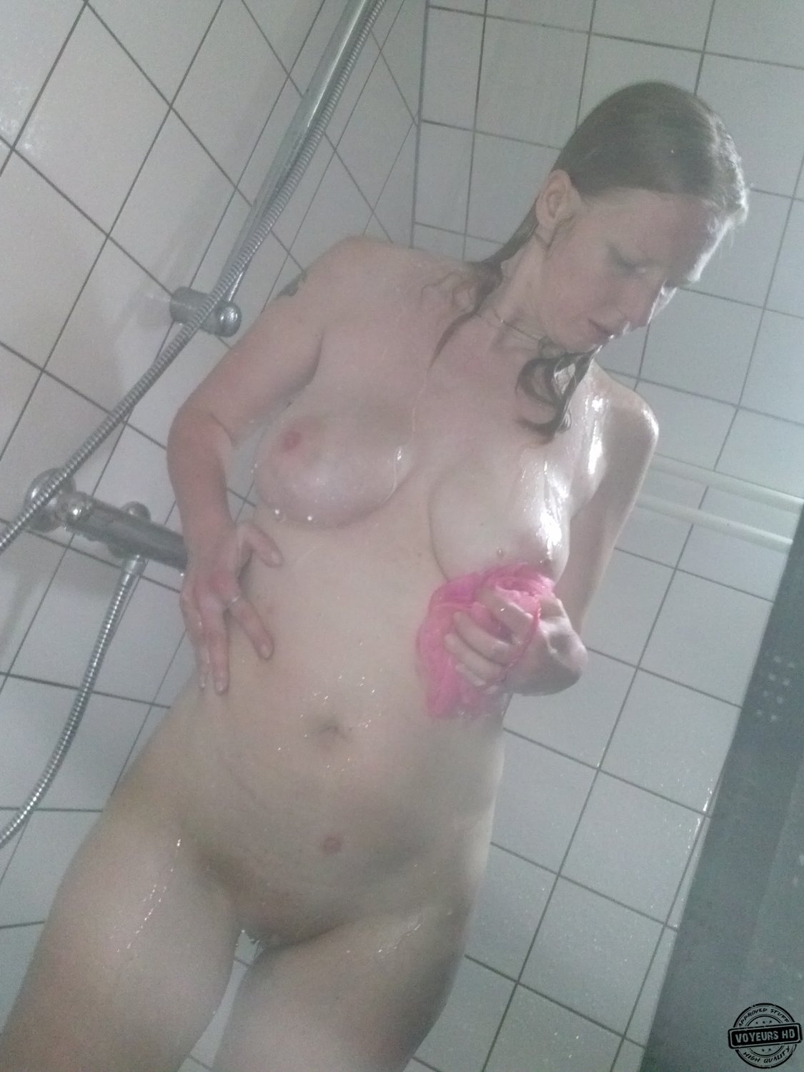 Use Young voyeur shower was also