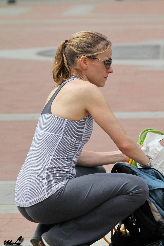 Personal trainer voyeur