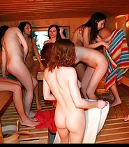 Nude Girls in a Sauna