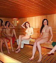 Nude Girls in a Sauna