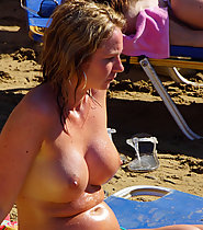 Teen Tits On display at the Beach
