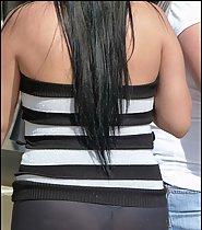 Transparent black leggins