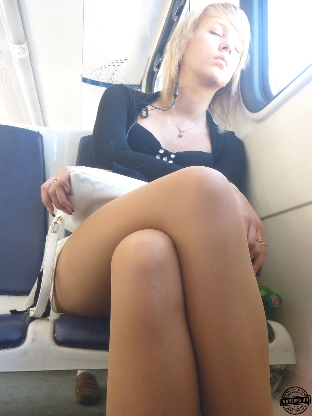 Candid sexy crossed legs 10 slow motion 10