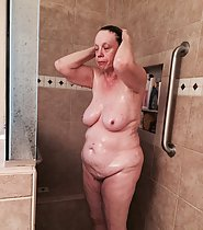 Jenn takes a shower