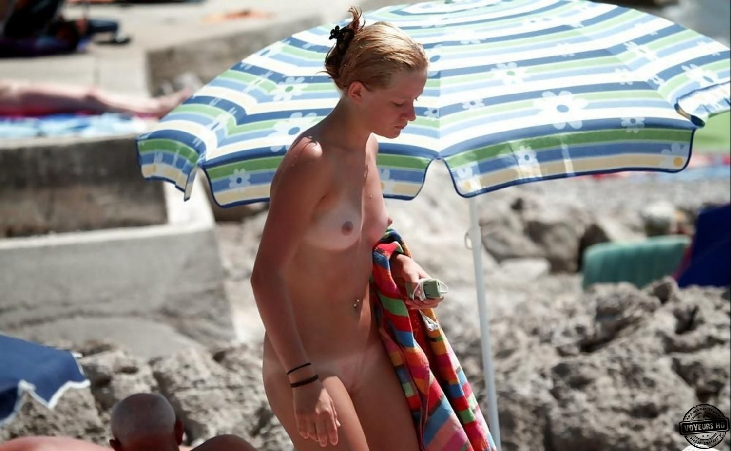 Mom Naked On Beach