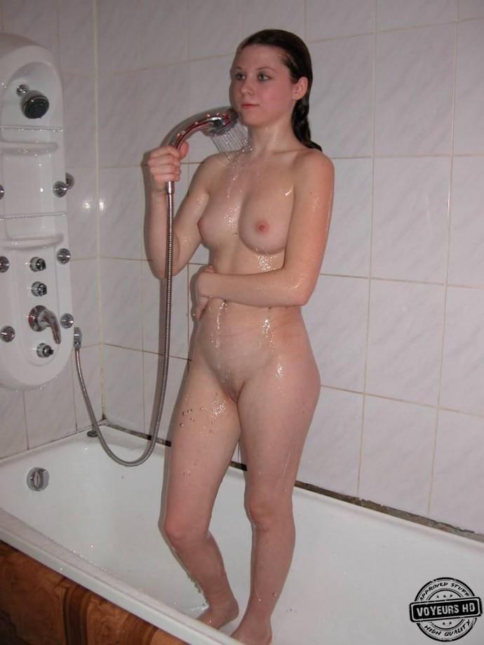 Girl spied in the bathroom peeing voyeur 5