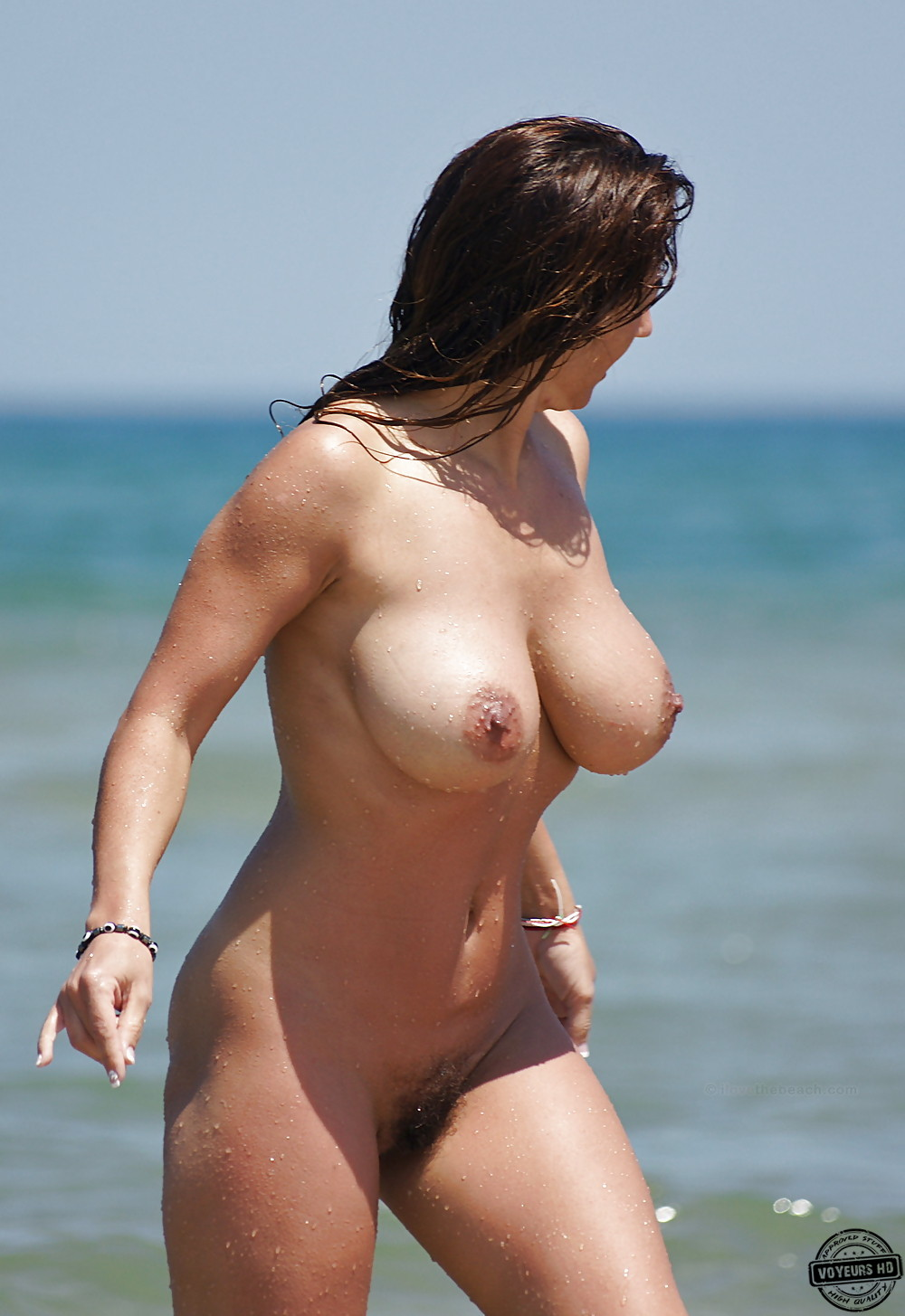 Small tits on the beach