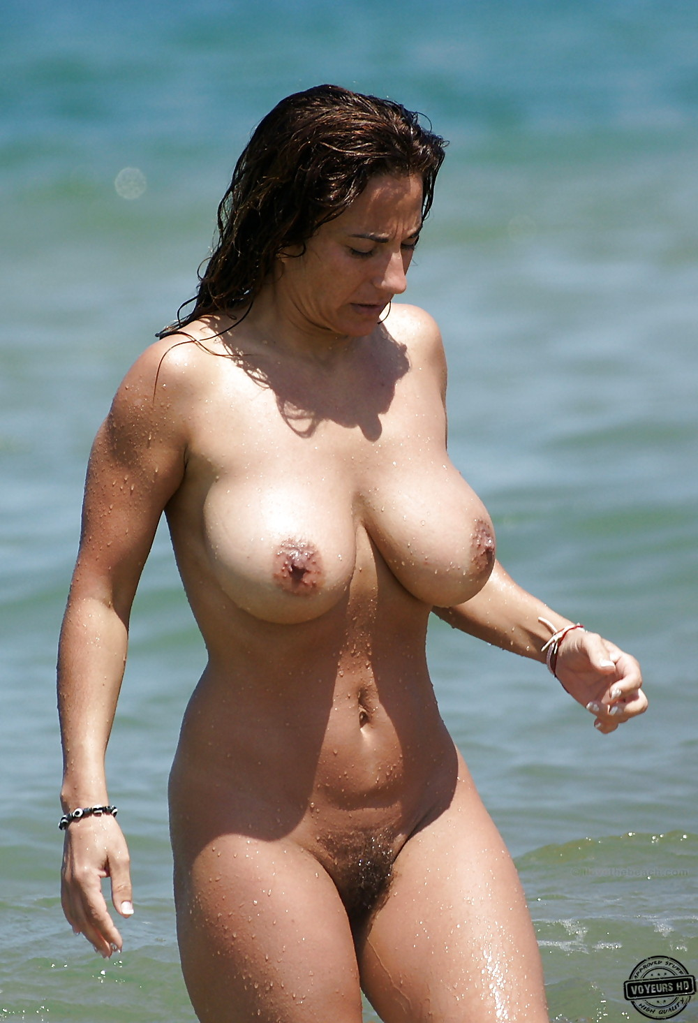 Tits beach big on nude