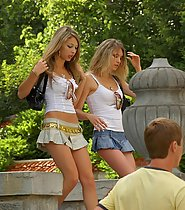 2 Sexy Teen on the Street
