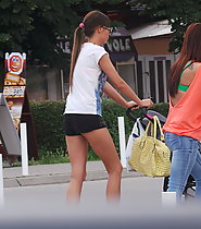 Hot young mom caught on the street
