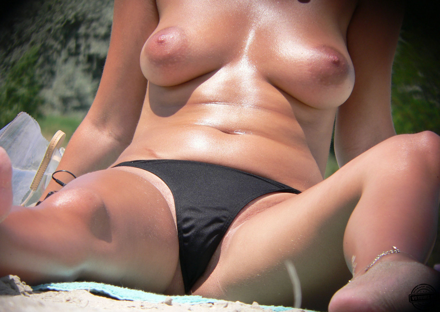 Hot Ass Bikini Girls Tanning Topless Beach Voyeur Hd Photo
