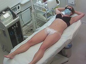 Long hair removal treatment on hidden camera