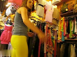 super tight yellow pants