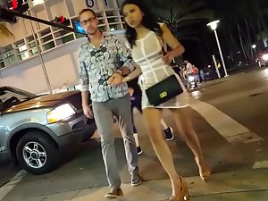 Sexy asian gold digger with a rich white guy