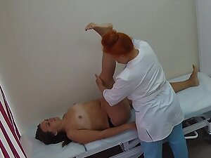 Spying on chubby woman in doctor's office