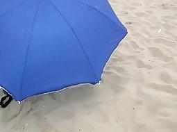 Beach bikini cameltoe