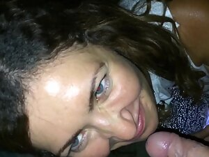 Shy girl convinced into giving blowjob outside