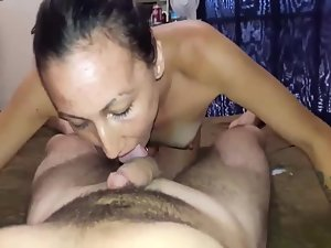Trashy couple having wild sex