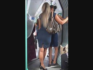 Smoking hot stewardesses followed