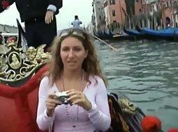 Romantic boat ride with a slut