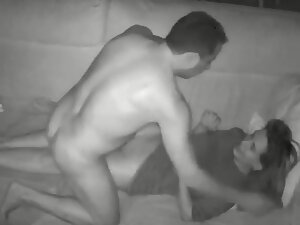 Anal sex caught on hidden camera in living room