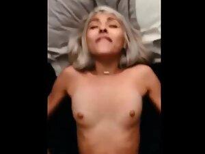 Half of big dick is enough to fuck her tight pussy