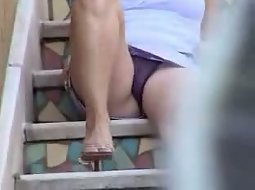 My neighbour sitting on the stairs