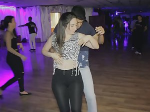 See through tights and bachata dance