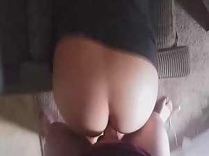 Girlfriend bent over for anal fuck