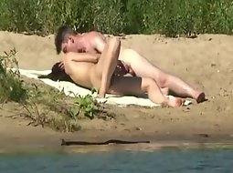 Couple fucking at the river bank