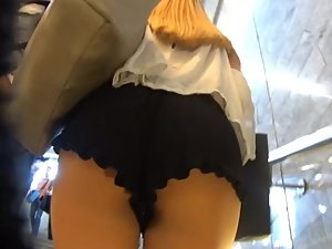Tight ass found in fluffy shorts