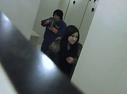 Spying pussies in a night club wc