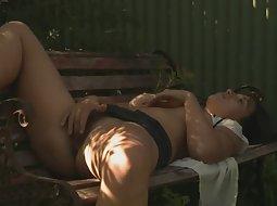 Cute girl caught in nudist camp