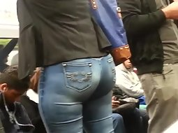 Big ass of a woman in the train