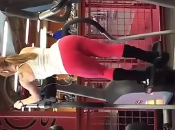 Fitness chick running in the gym