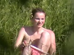 Cute girl fucked in the grass
