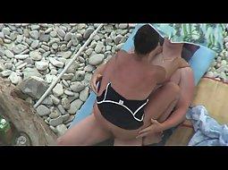 threesome at the beach