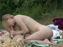 Couple caught fucking in the park