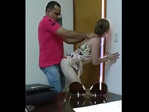 Coworkers have quickie sex in the office