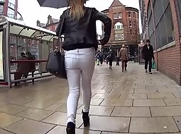 Girl walking during a rainy day