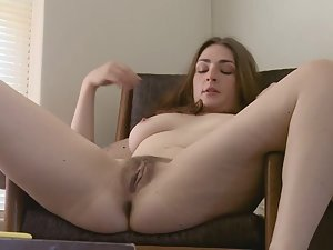 Mature spying on masturbating girl — 3