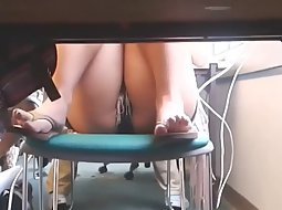 Under the table in the school