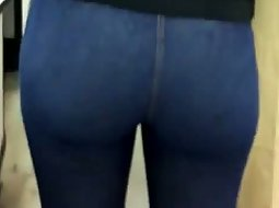 Tight ass dressed in jeans