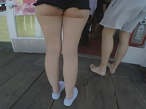 Catching up with a hot young ass