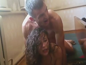 Filming how friend fucks a cheap slut