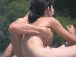 Guy grabs girlfriend's sweet boob