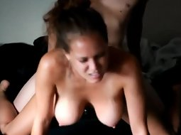 Busty girl gets fucked really hard