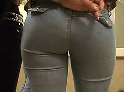 Waiting in line behind a tight ass